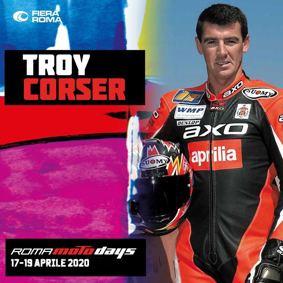 Troy Corser, il Campione ospite di Roma Motodays